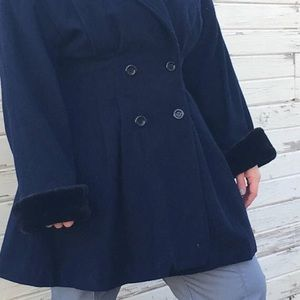 1970s/1980s Russian navy blue wool coat